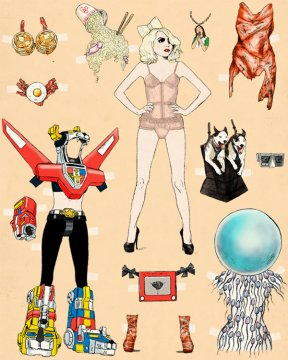 Lady-GaGa-Paper-Doll